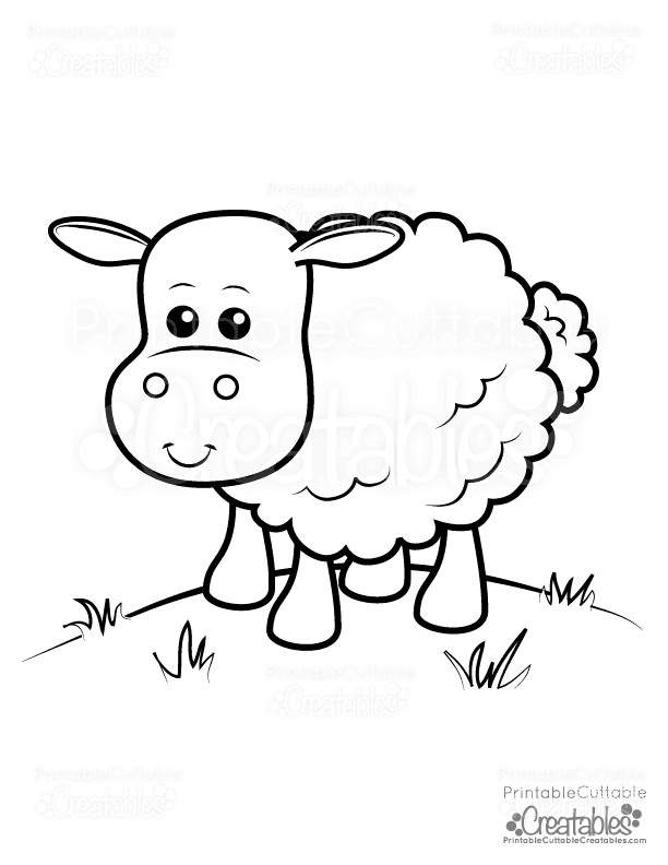 Cute Sheep Free Printable Coloring Page