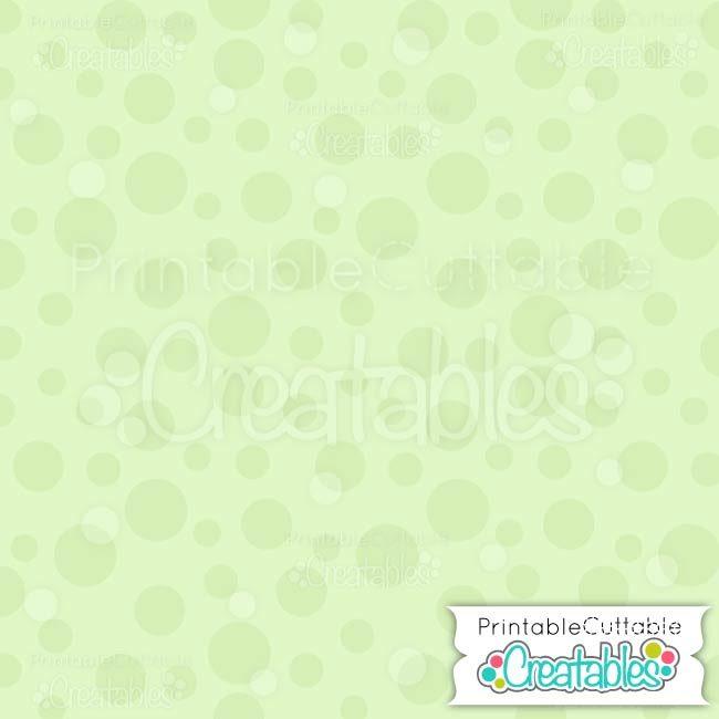 01 Large Green Toss Dot digital paper