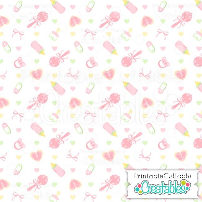 02 Sweet Baby Girl Digital Paper preview