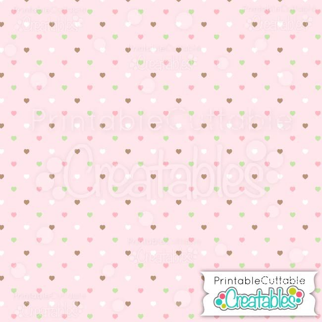 03 Pink Multi Polka dot Hearts digital paper preview