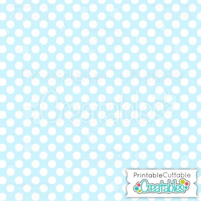 04 Large Blue Polka Dots digital paper