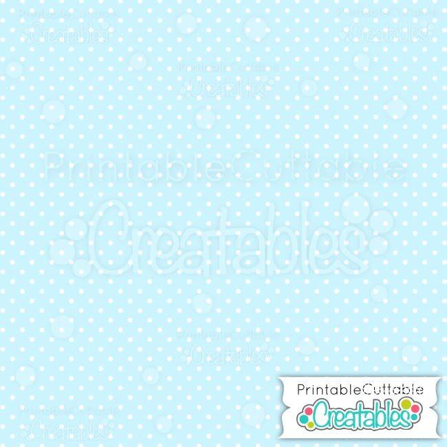 04 Small Blue Polka dots digital paper preview