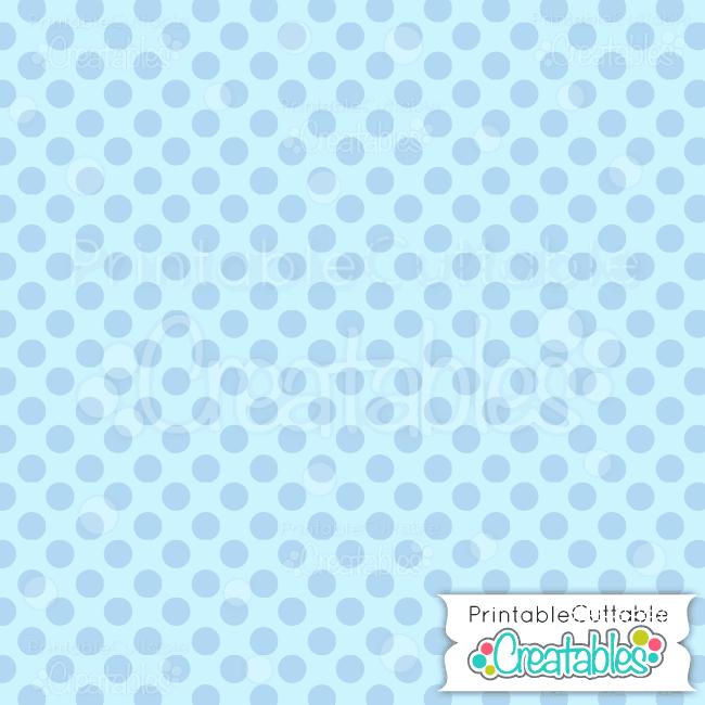 06 Large Dk Blue Polka Dots digital paper preview