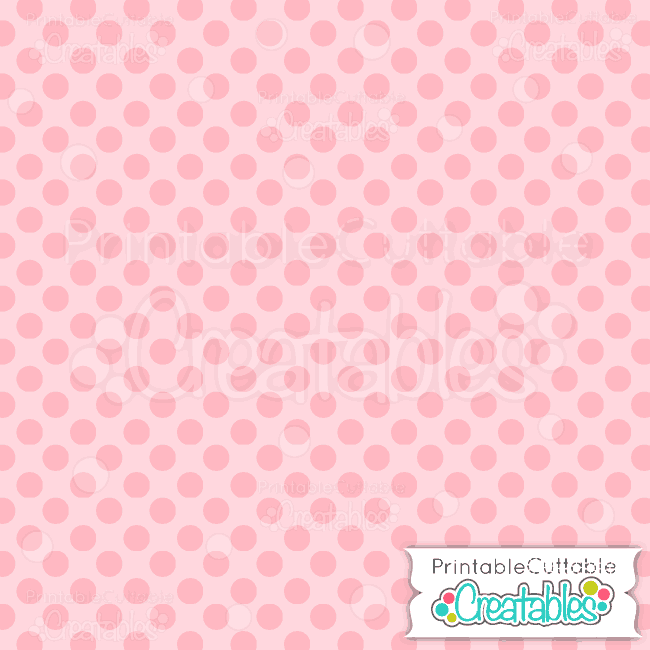06 Large Dk Pink Polka Dots digital paper preview