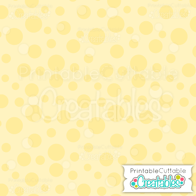 07 Large Yellow Tossed Dot digital paper