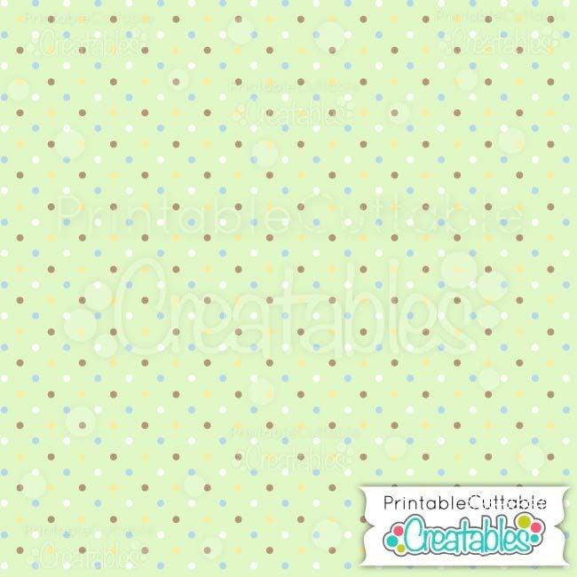 09 Small Multi Polka Dots Green digital paper