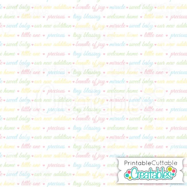 10 Welcome Baby Sentiments 1 digital paper