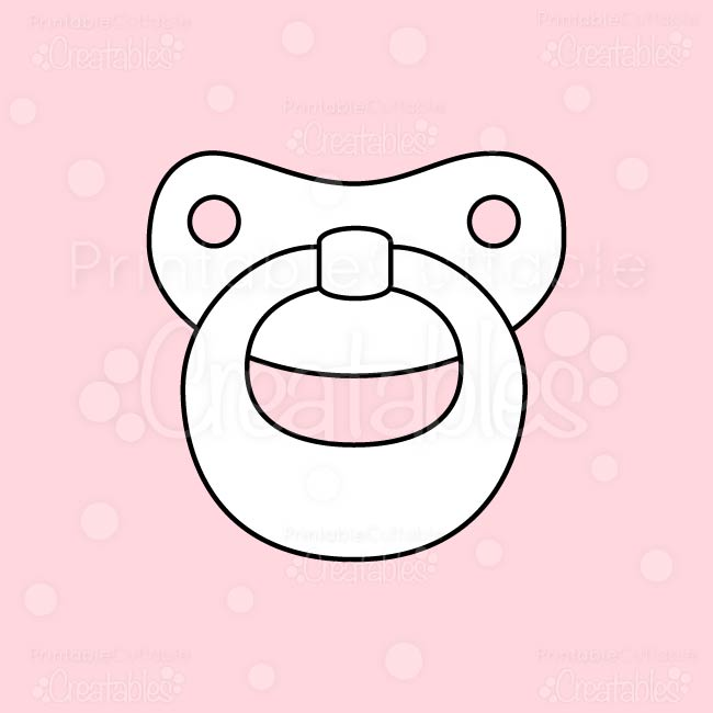 Baby Pacifier Free Digital Stamp