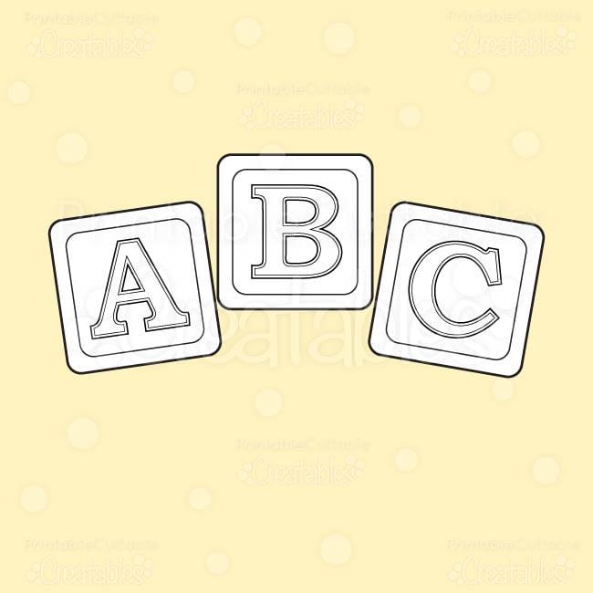 abc baby blocks free digi stamp