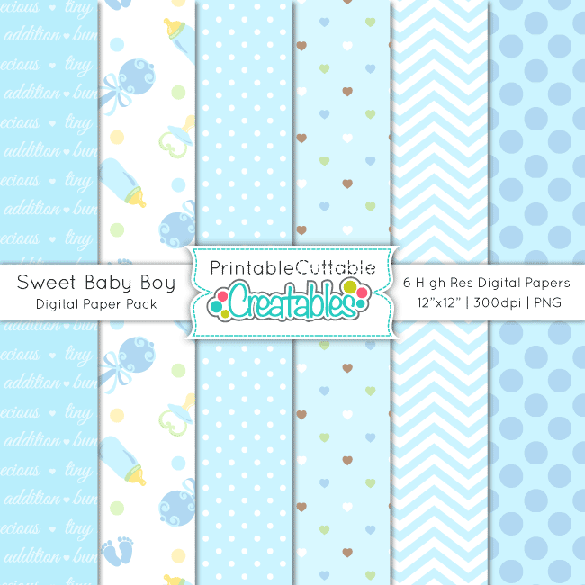 Sweet-Baby-Boy-Digital-Paper-Pack