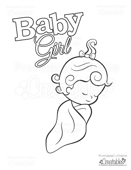 baby girl free printable coloring page - Girl Coloring Pages 2