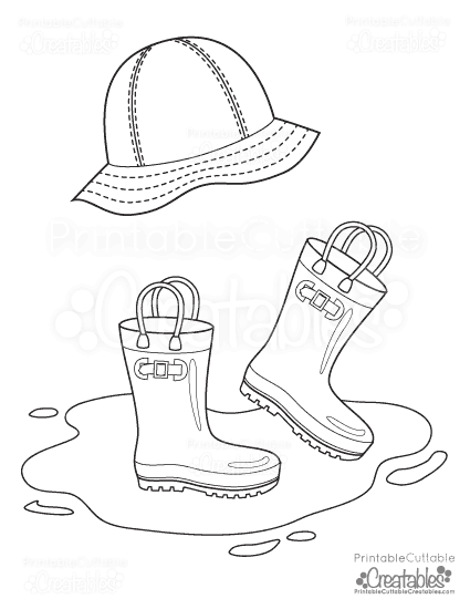 011-rain-hat-boots-free-printable-coloring-page