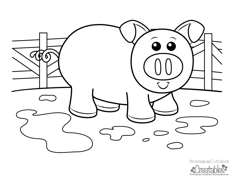 free coloring pages without downloading cute piggy free kids printable coloring page