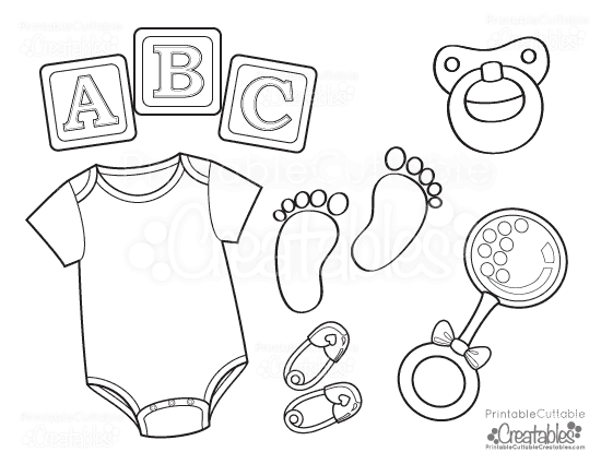 Baby onesie free printable coloring page for Baby toys coloring pages