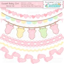 Sweet-Baby-Girl-Banner-Set