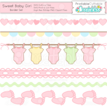 Sweet-Baby-Girl-Border-Set