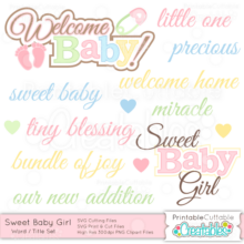 Sweet-Baby-Girl-Word-Title-Set
