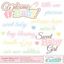 Sweet-Baby-Girl-Word-Title-Set