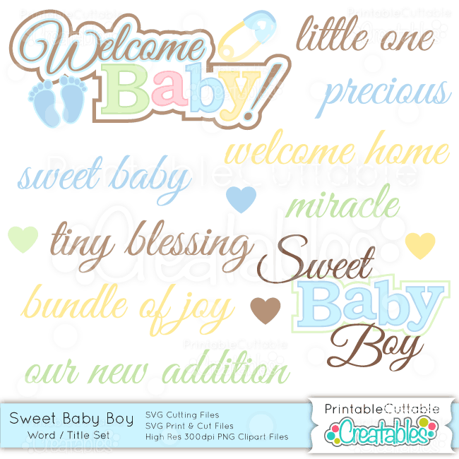 Sweet-Baby-Boy-Word-Title-Set