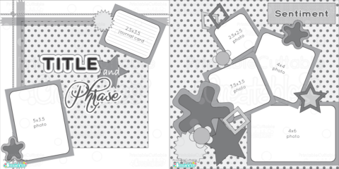 Free Printable Scrapbook Layout Sketch