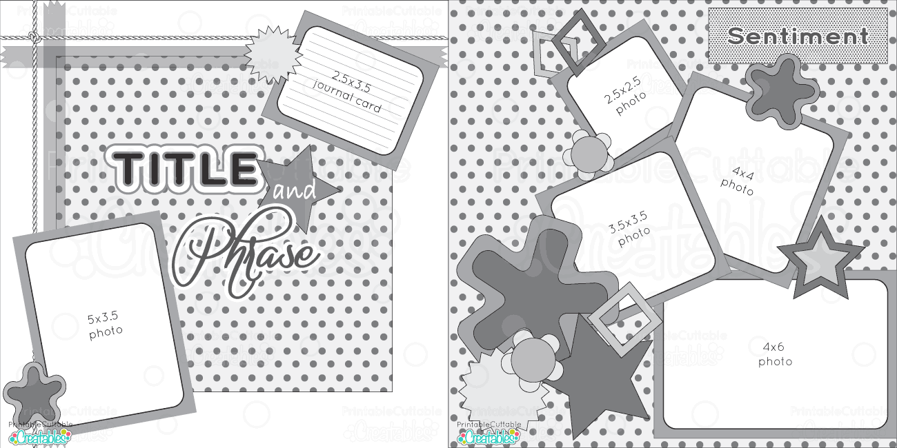 2 Page 12x12 Free Printable Scrapbook Sketch Printable