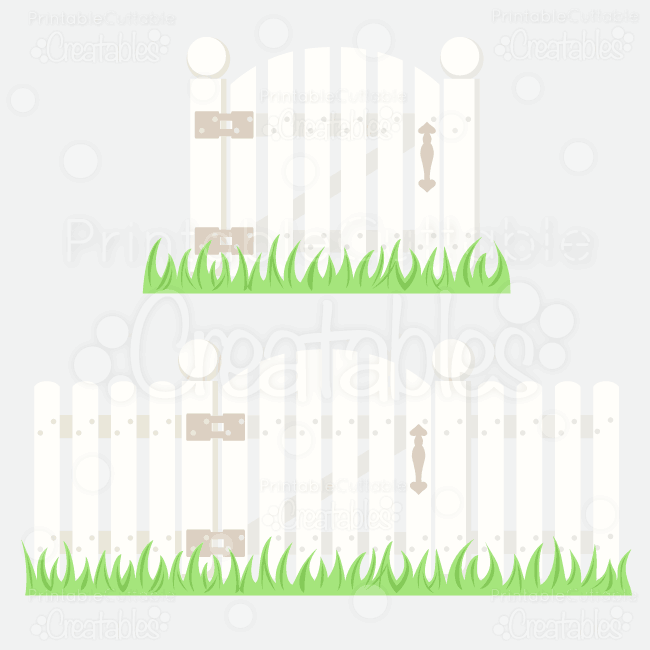 Picket Fence W Gate Svg Cutting File Amp Clipart Copy
