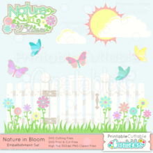 Nature-in-Bloom-Scrapbook Embellishment Set