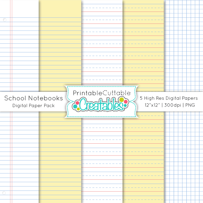 School-Notebook-Digital-Paper-Pack