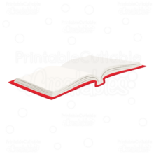Open-School-Book-SVG Cut File Clipart