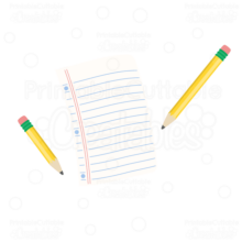 Pencil-and-Paper-SVG cut files clipart