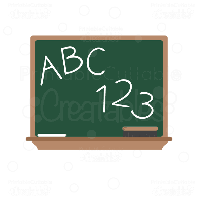 ABC-Chalkboard scrapbook SVG cut file clipart