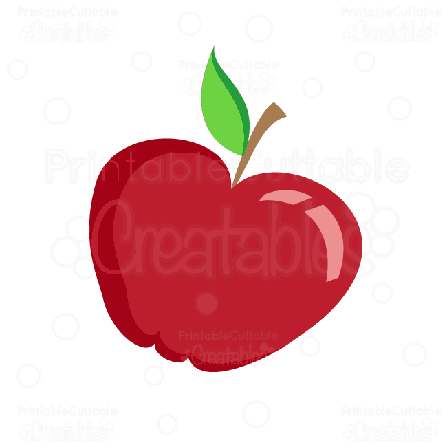 Teacher's Apple Free SVG Cuts & Clipart