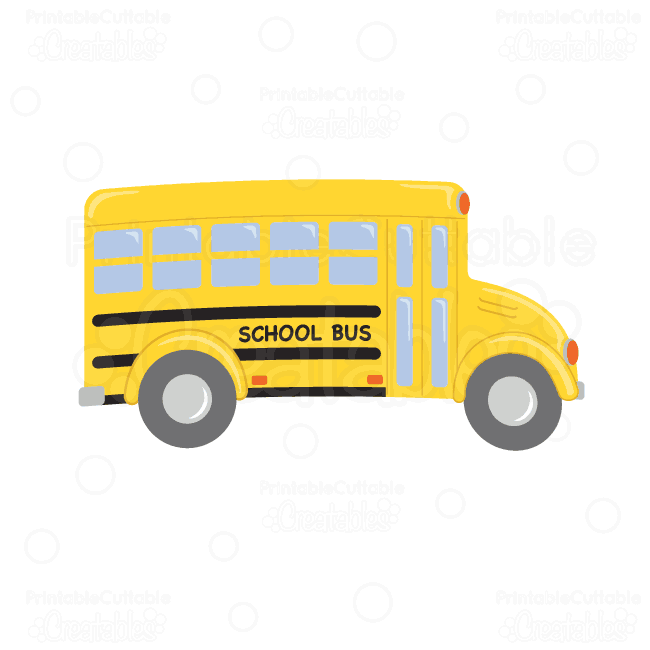 School Bus SVG Cutting File & Clipart