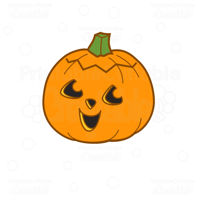Cute Halloween Pumpkin Free SVG Cutting File & Clipart