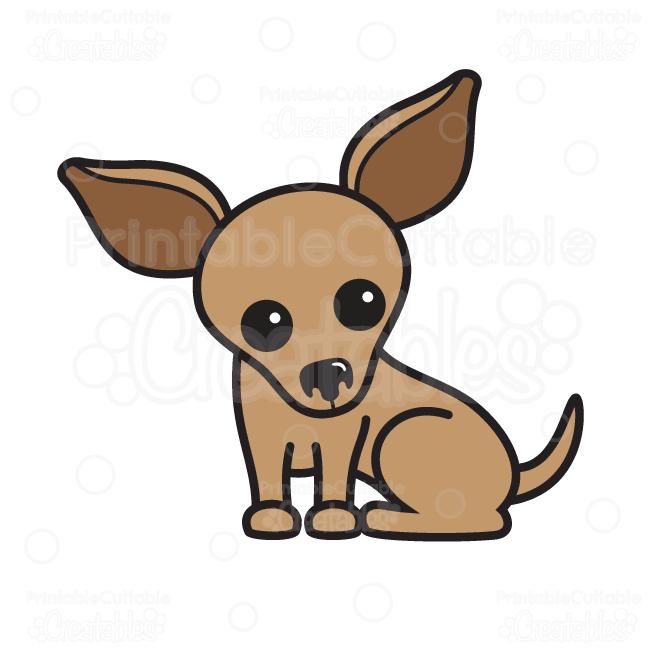 cute chihuahua svg cutting file clipart rh printablecuttablecreatables com clipart chihuahua dog chihuahua clipart free