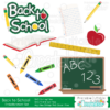 Back-to-School Digital Scrapbook Embellishment Set