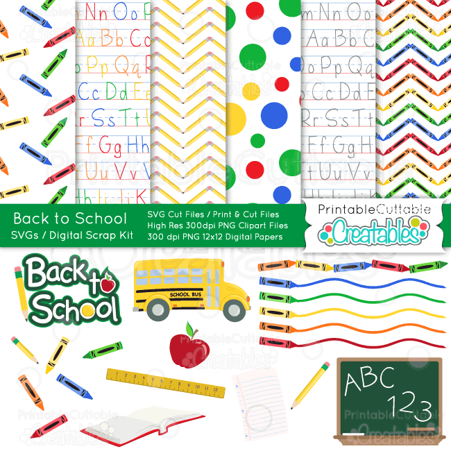 Back-to-School-Scrapbook Kit