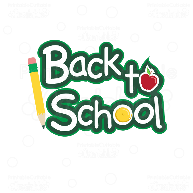 Back-to-School-Title SVG Cutting File & Clipart