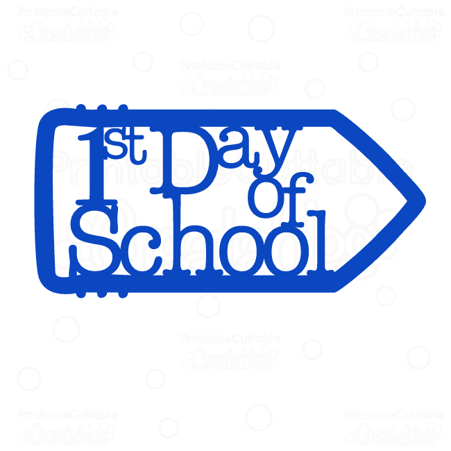 1st-Day-of-School-Pencil-Title-SVG cut file