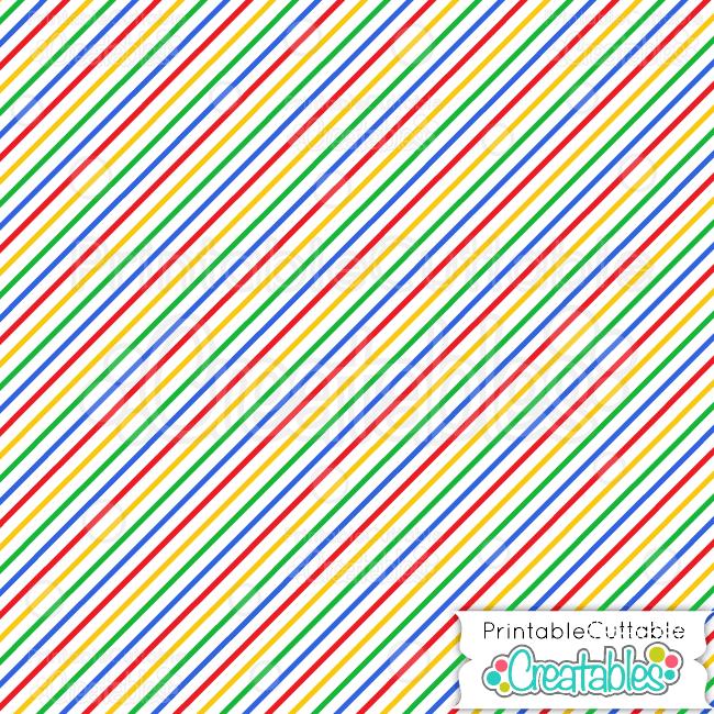 primary colors diagonal stripe digital paper preview