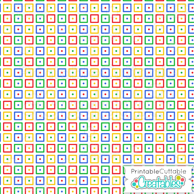 primary colors dotted squares digital paper preview