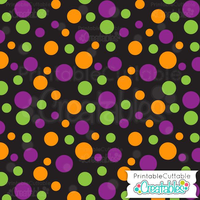 01 Halloween Dots Digital Paper Preview