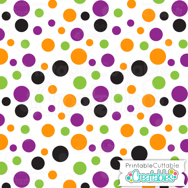 02 Halloween Dots White Digital Paper Preview