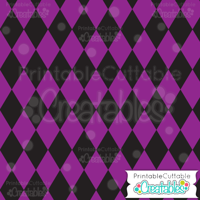 02 Halloween Purple Harlequin Digital Paper