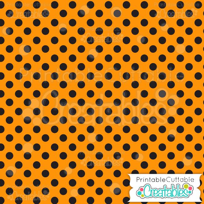05 Halloween Polka dots Digital Paper Preview