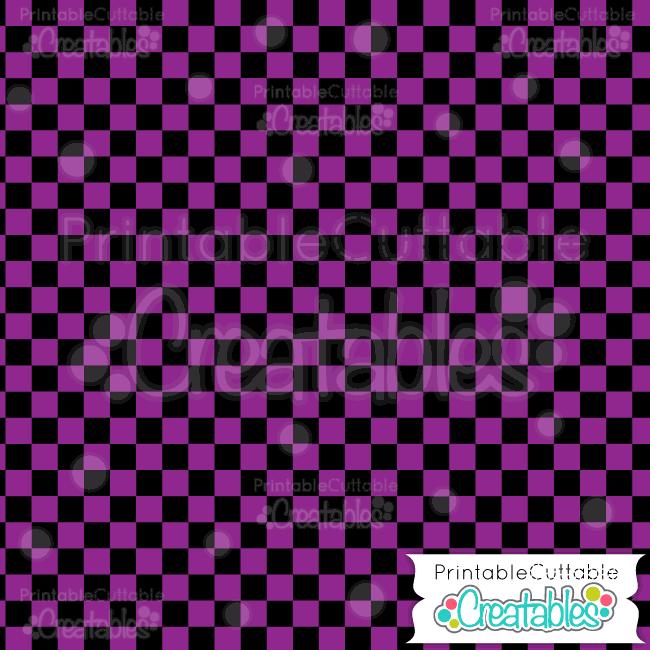 05 Halloween Purple Check Digital Paper Pattern