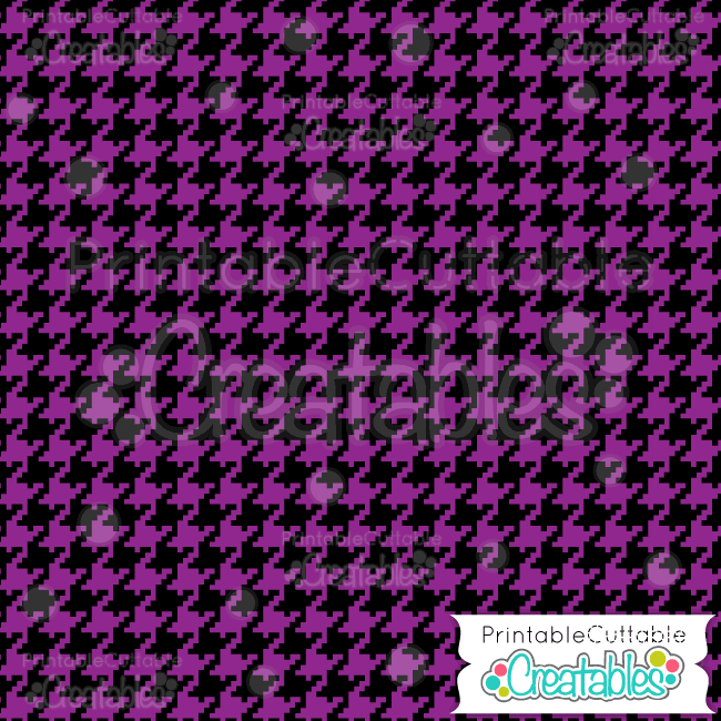 06 Halloween Houndstooth Digital Paper Preview