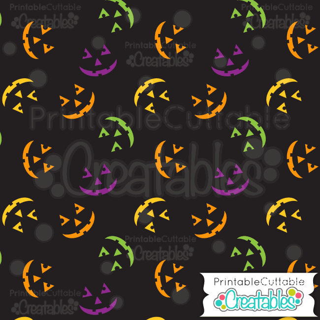 07 Halloween Jack o Lantern Digital Paper Preview