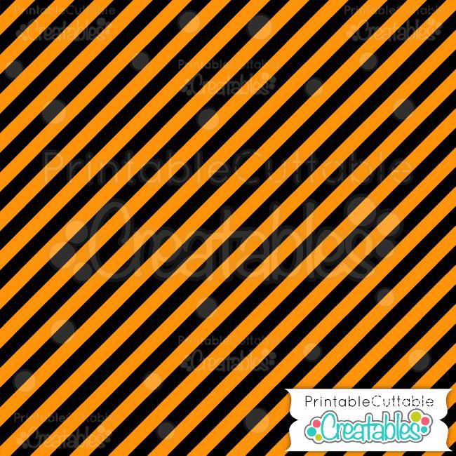 07 Halloween Orange Diagonal Stripe Digital Paper Pattern