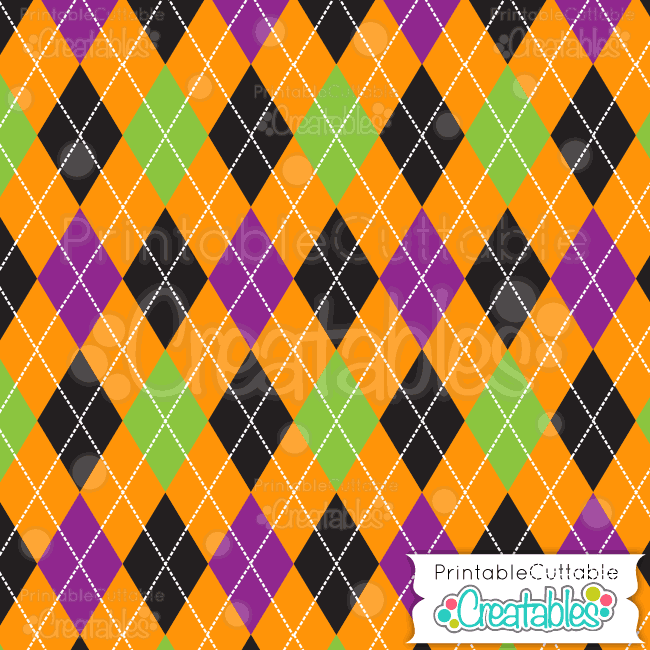 08 Halloween Argyle 1 Digital Paper Pack Preview